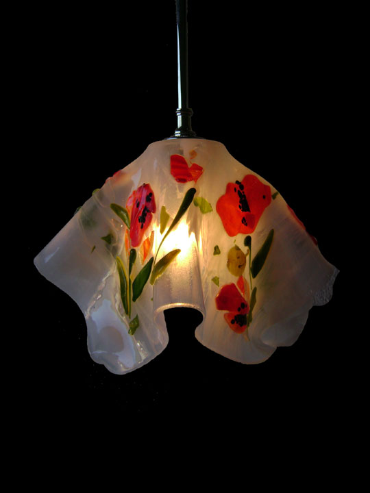 Poppy Motif Pendant Light