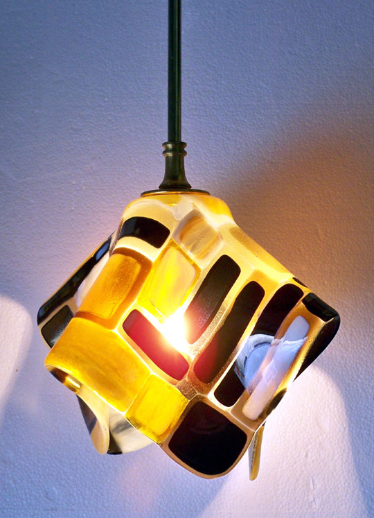 """Kilmt"" Fused Glass Pendant Light"