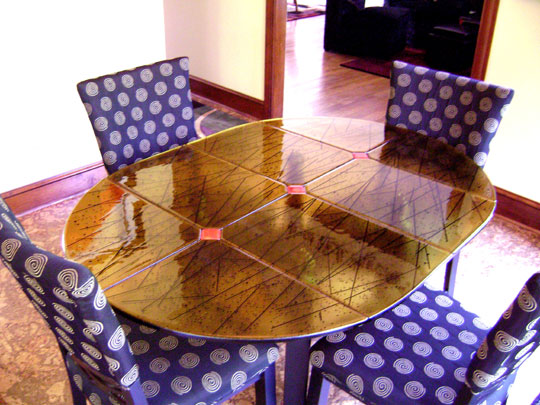 Amber and Black Table Top