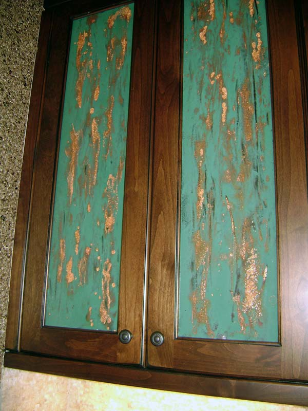 Turquoise Cabinet Inserts