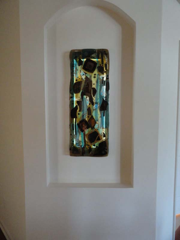 Fused Glass Abstract Panel