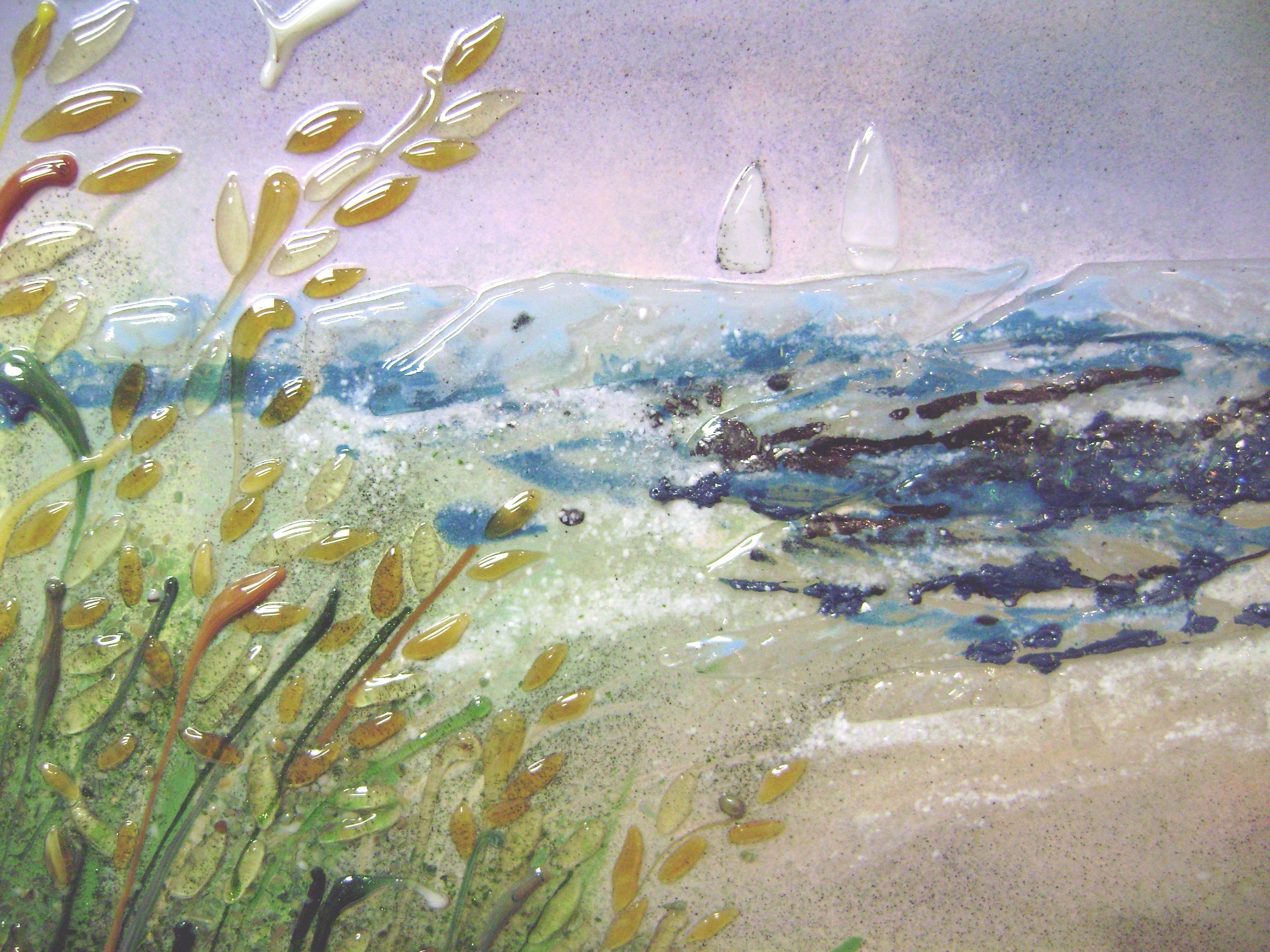 Beach Scene Mural Designer Glass Mosaics