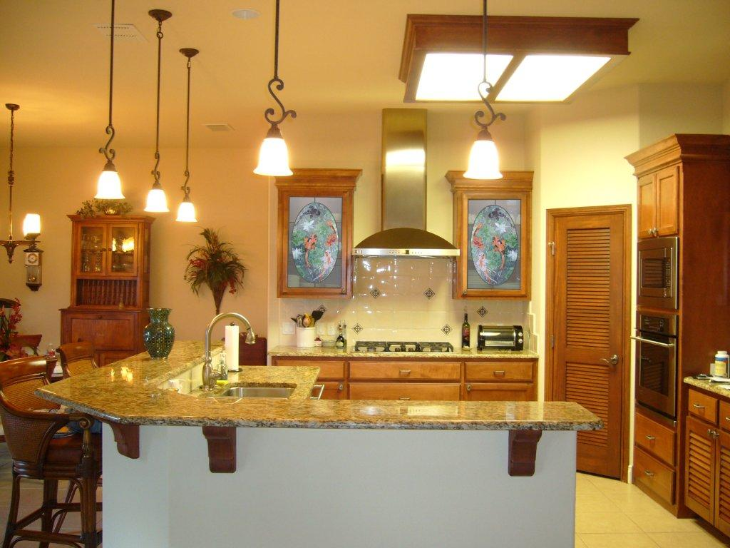 Kitchen Cabinet Panels with Koi Theme