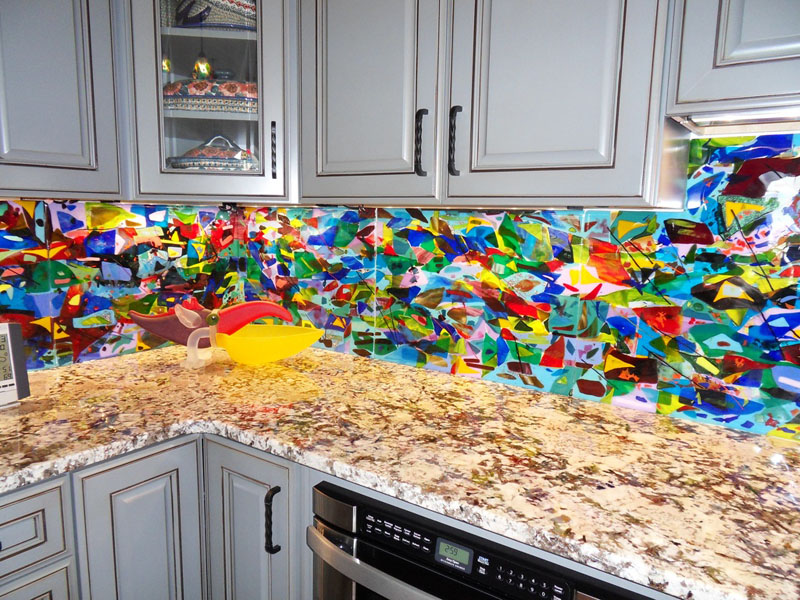 Fun Backsplash Ideas Part - 20: We Really Had A Lot Of Fun Working With Our Client In The Outer Banks On  This Kitchen Project. We Created 42 Square Feet Of Kitchen Backsplash  Panels By ...