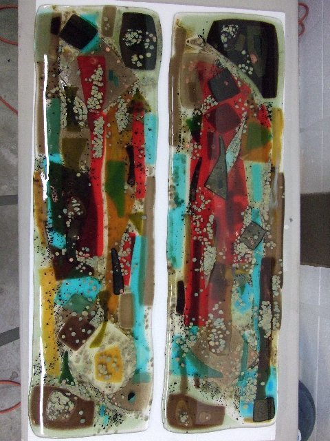Teal Abstract Panels