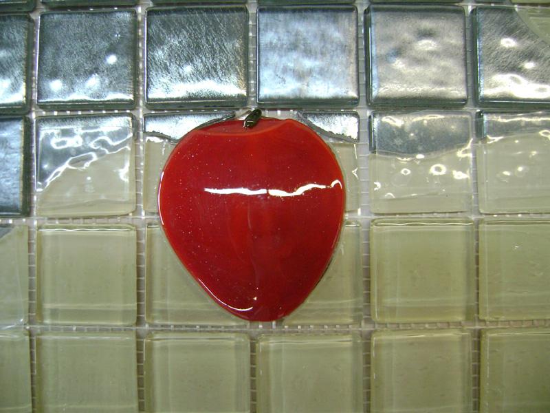 Glass mosaic apple tree mural designer glass mosaics for Apple tree mural
