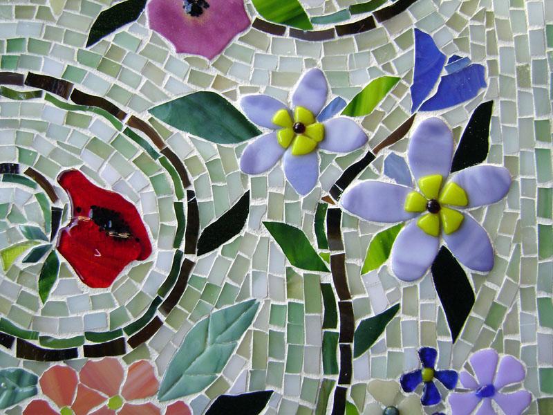 Glass Mosaic Floral Mural  Designer Glass Mosaics-5230