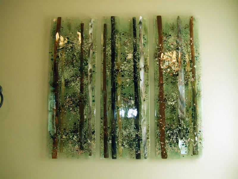 Abstract Trees Wall Art Designer Glass Mosaics