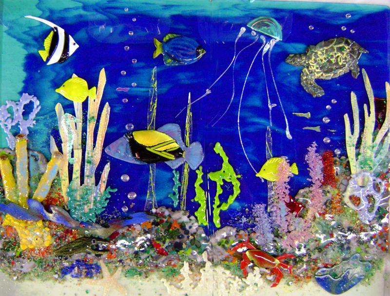 Hawaiian Underwater Scene for Kitchen Backsplash ...