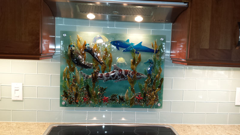 Fused Glass Murals – Pacific Coast Underwater Scenes