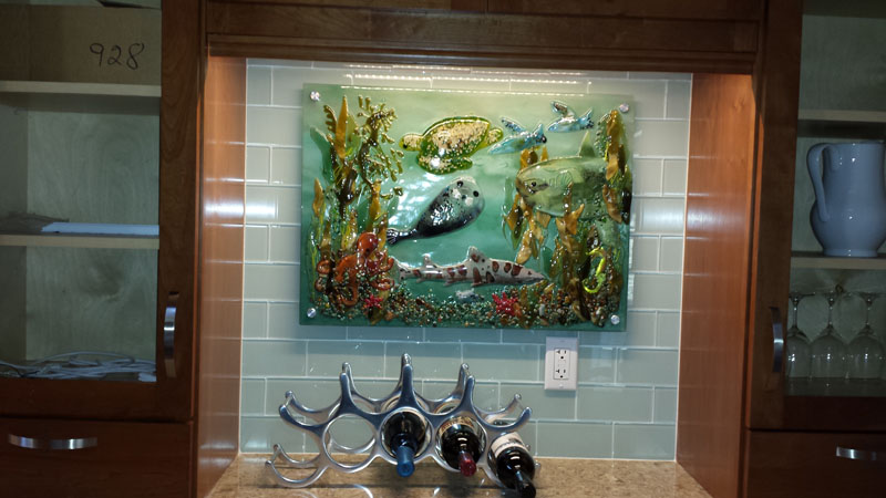 Fused Glass Murals Pacific Coast Underwater Scenes