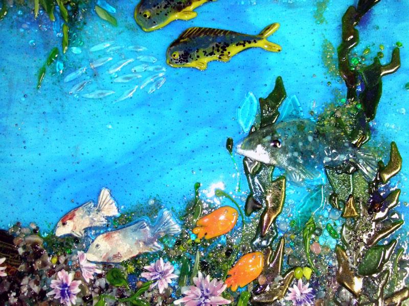 Fused Glass Quot Pacific Coast Underwater Scene Quot Designer