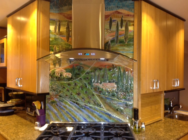 Gl Tuscan Mural For Kitchen