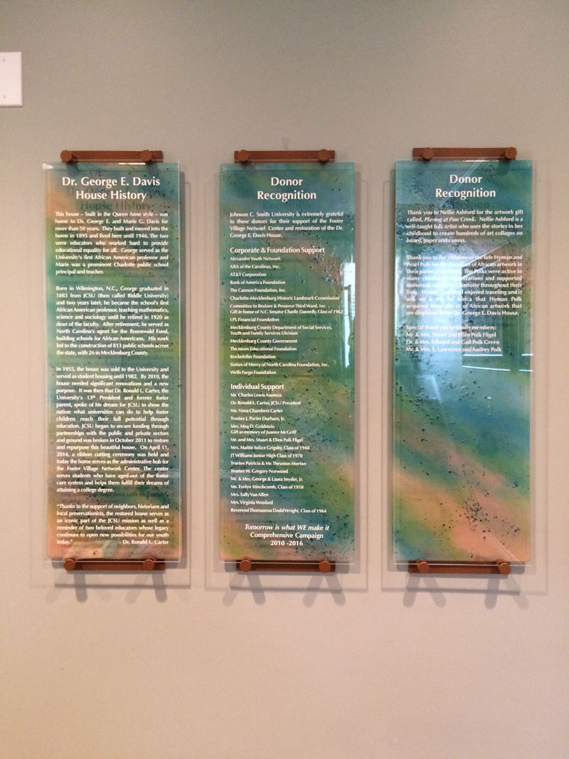 Glass Donor Recognition Panels | Designer Glass Mosaics