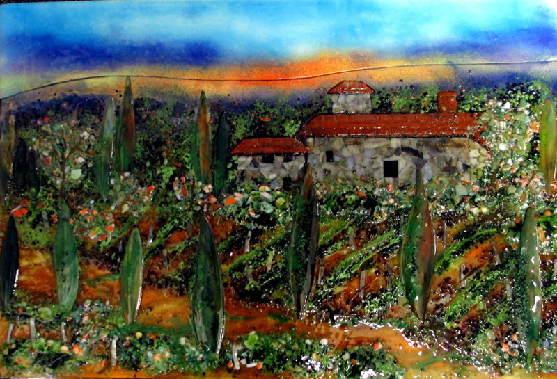 Tuscan Mural in Glass