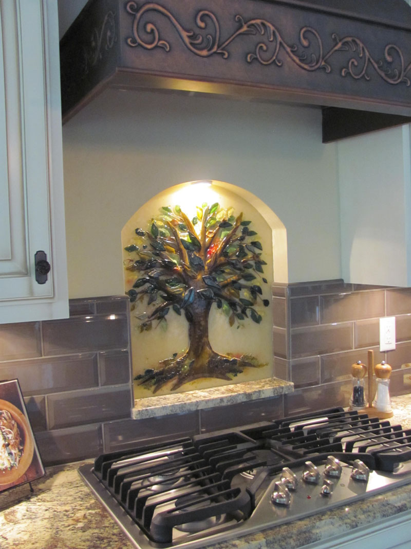 Tree of Life Kitchen Backsplash | Designer Glass Mosaics