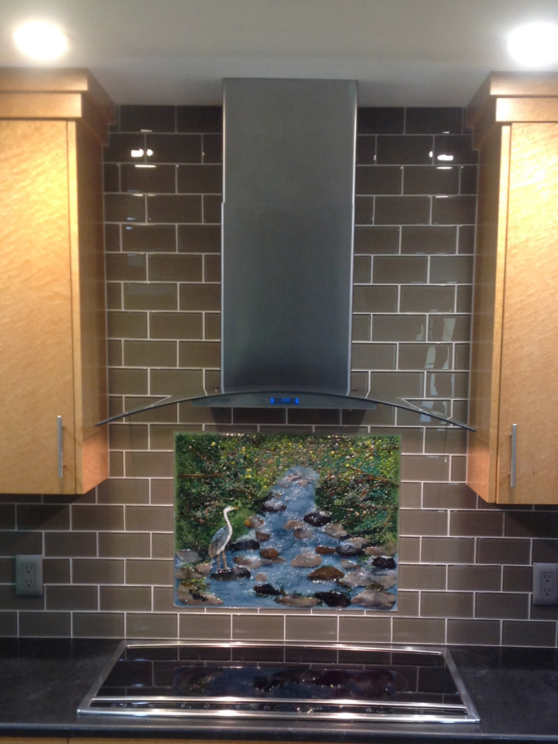 Blue Heron Mountain Brook Designer Glass Mosaics