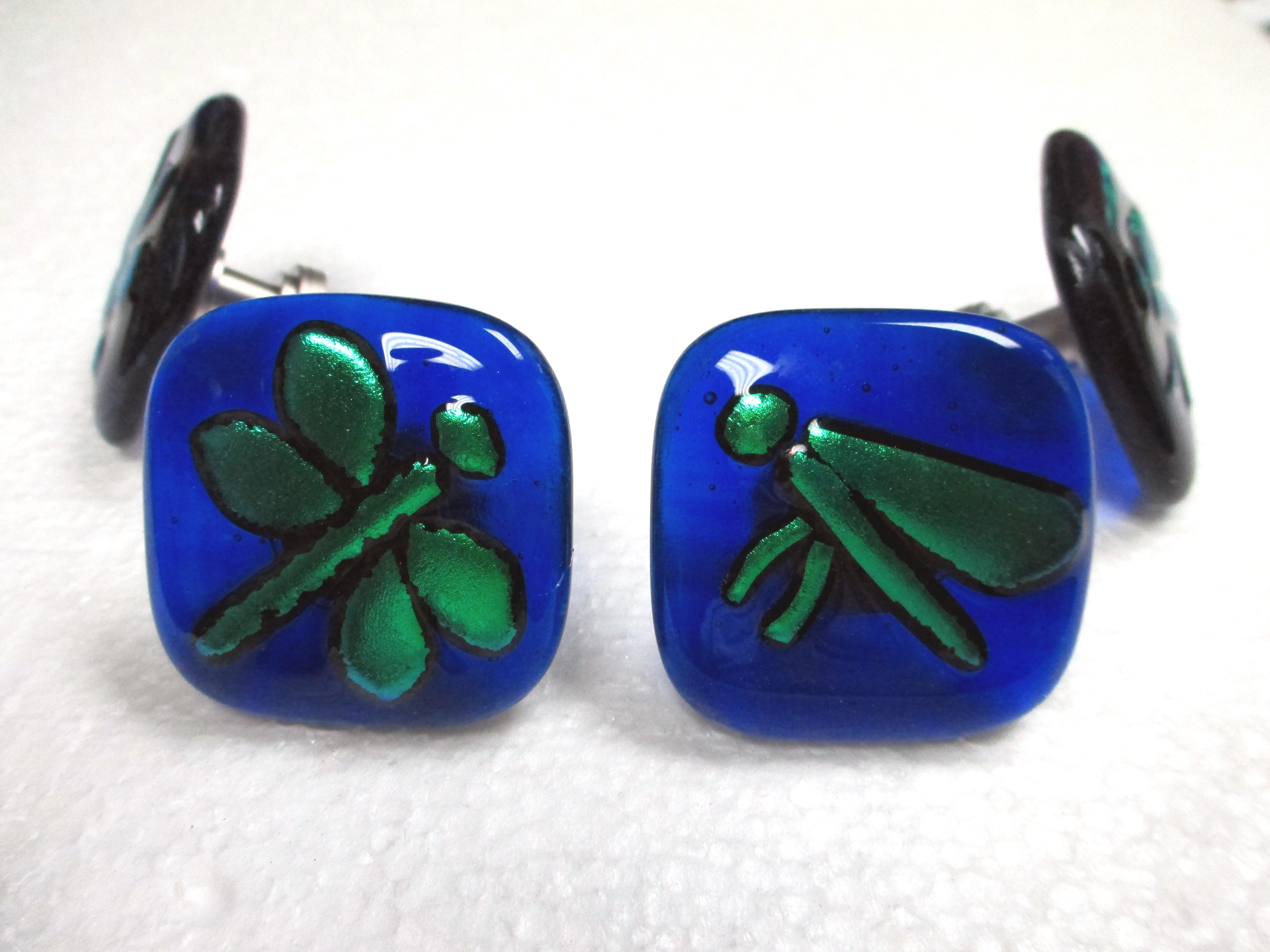 "Glass Cabinet Knob ""Dragonfly"""