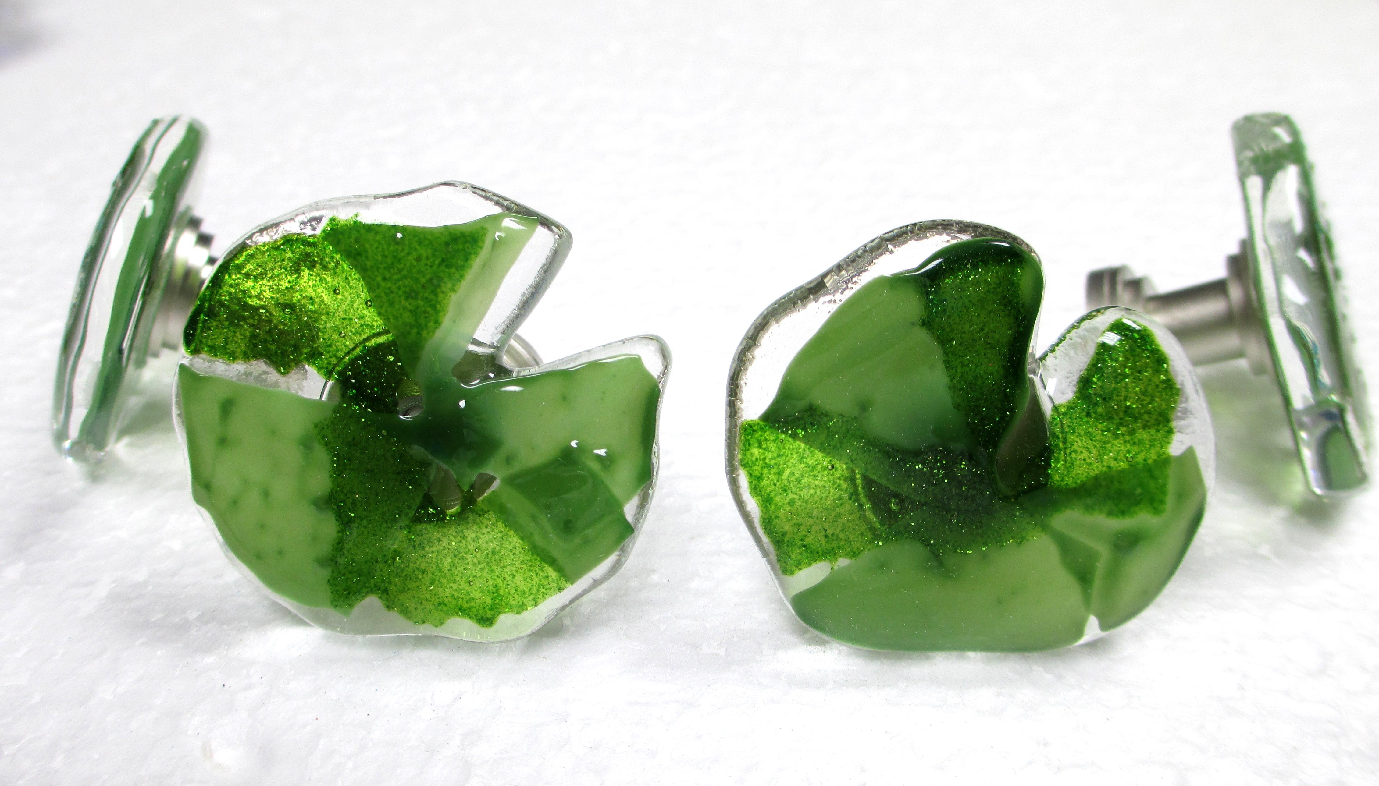 "Glass Cabinet Knob ""Lily Pad"""