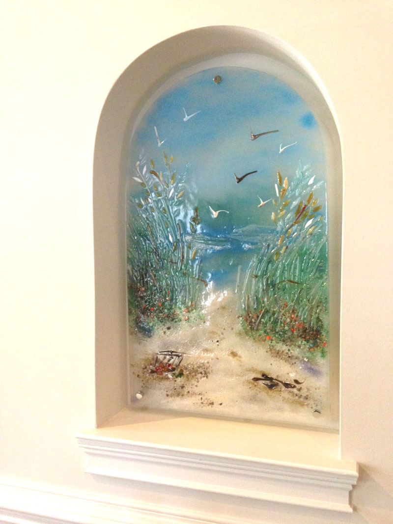 glass murals and panels fused and mosaic glass tile designer
