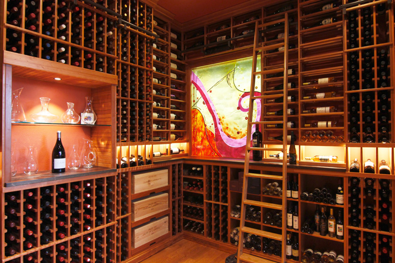 Glass Tile Mural Wine Cellar Designer Glass Mosaics