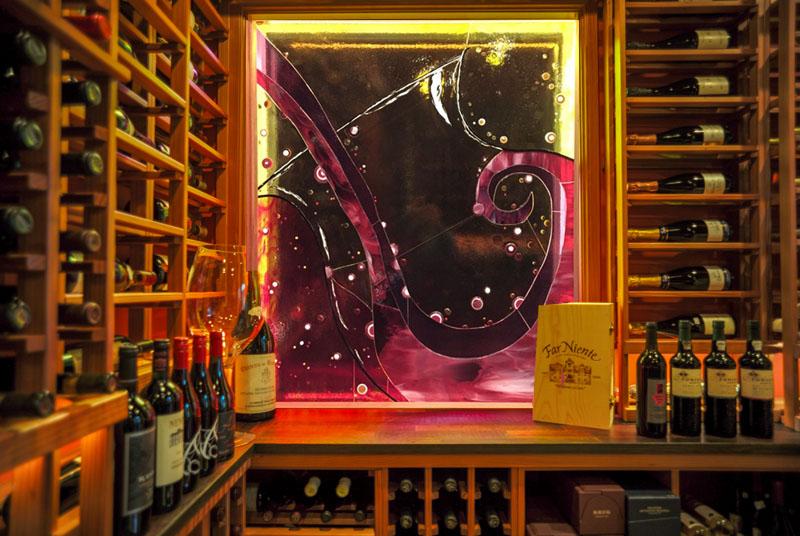 Glass Tile Mural (Wine Cellar)