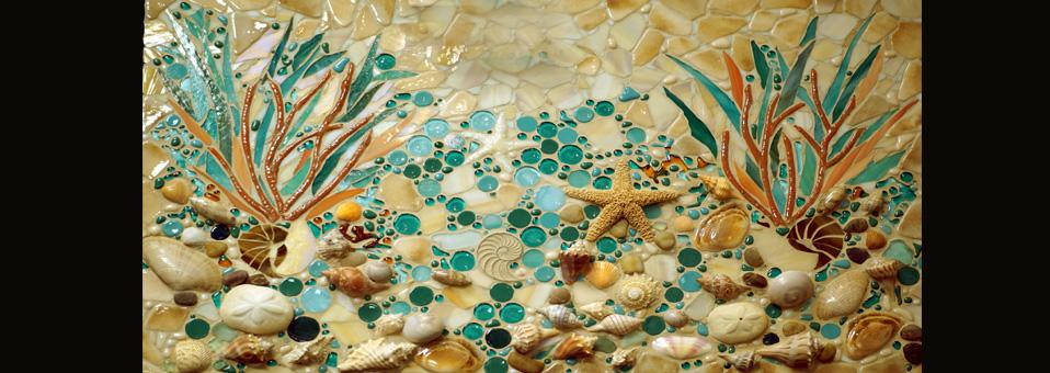 Beach Mosaic Mural
