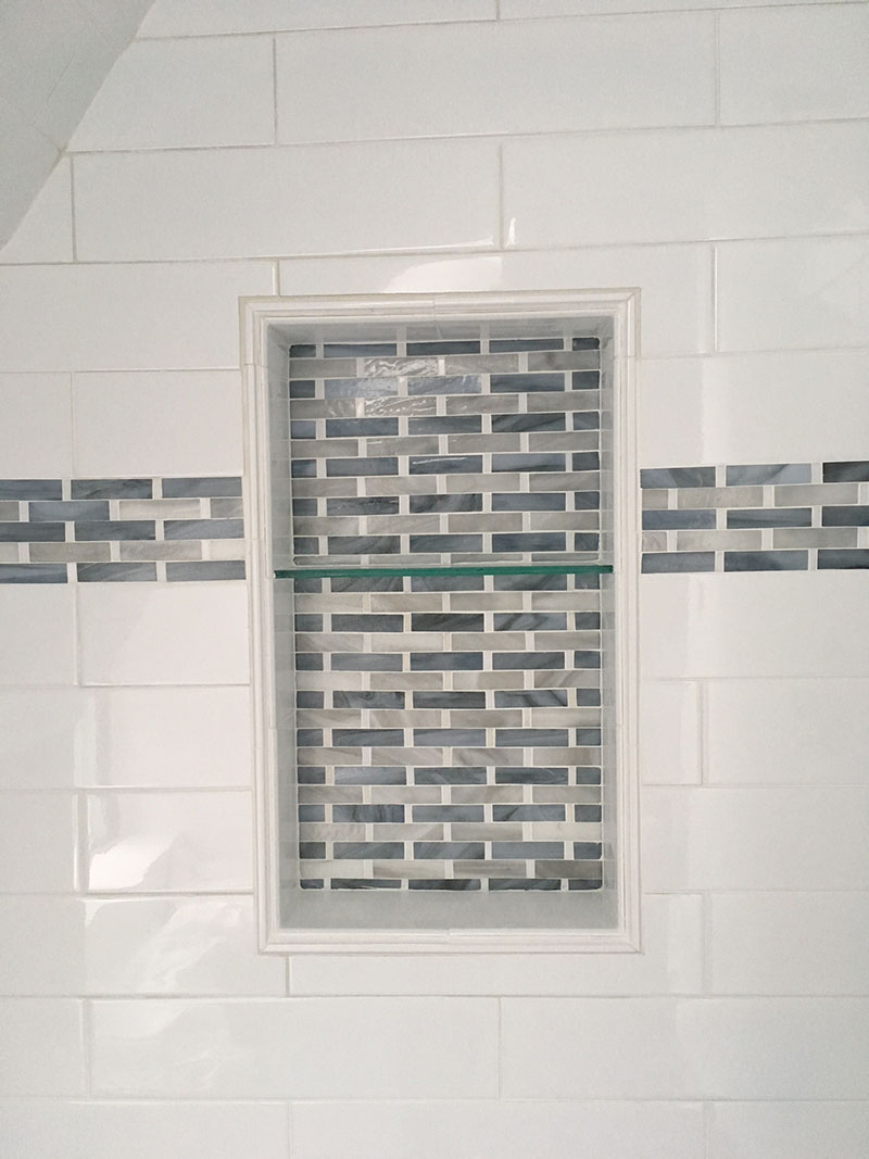 Glass Border Tiles - Horizontal | Designer Glass Mosaics