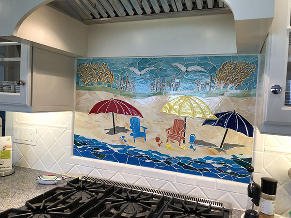 Glass Mosaic Beach Mural